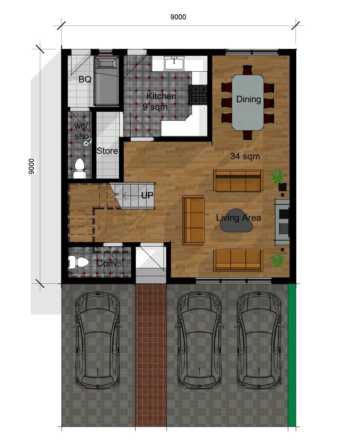 Terraces  Ground Floor Plan