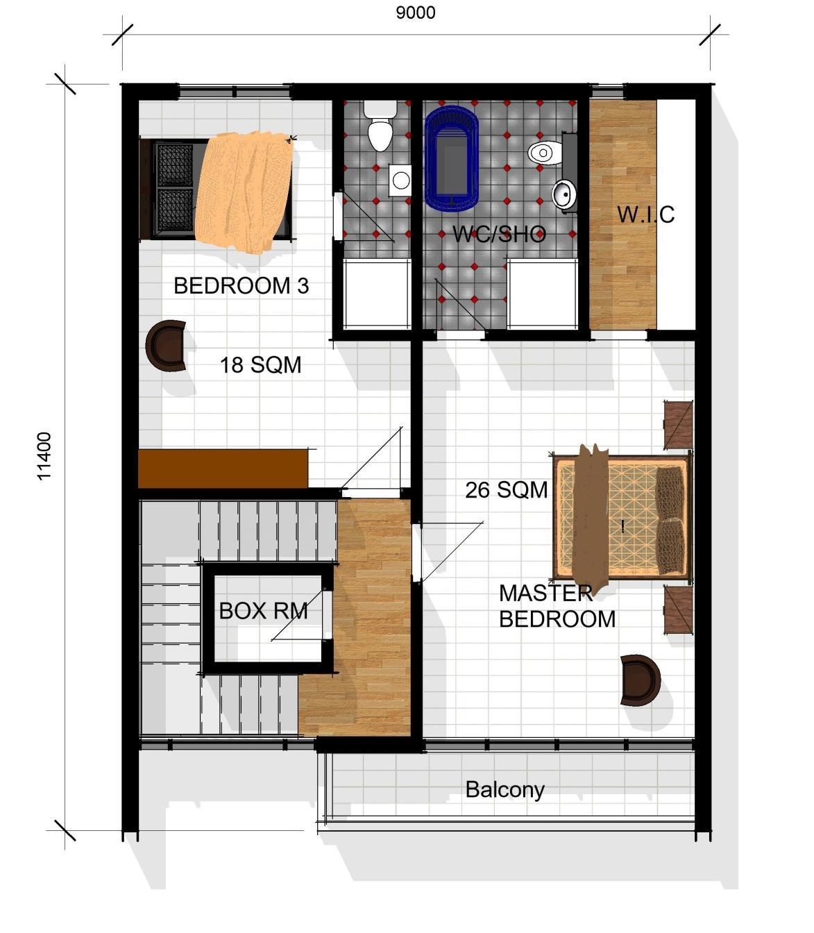 Terrace Pent Floor Plan
