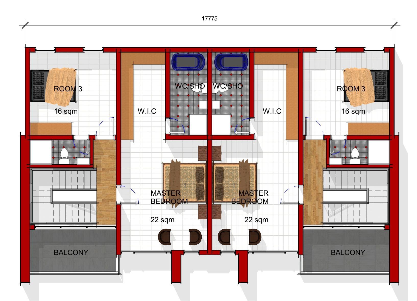 Semi Detached Pent Floor Plan