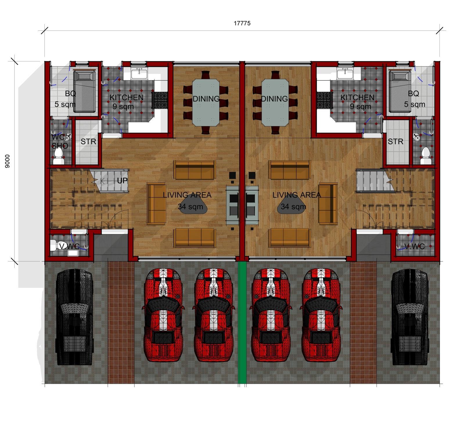 Semi Detached Ground Floor Plan