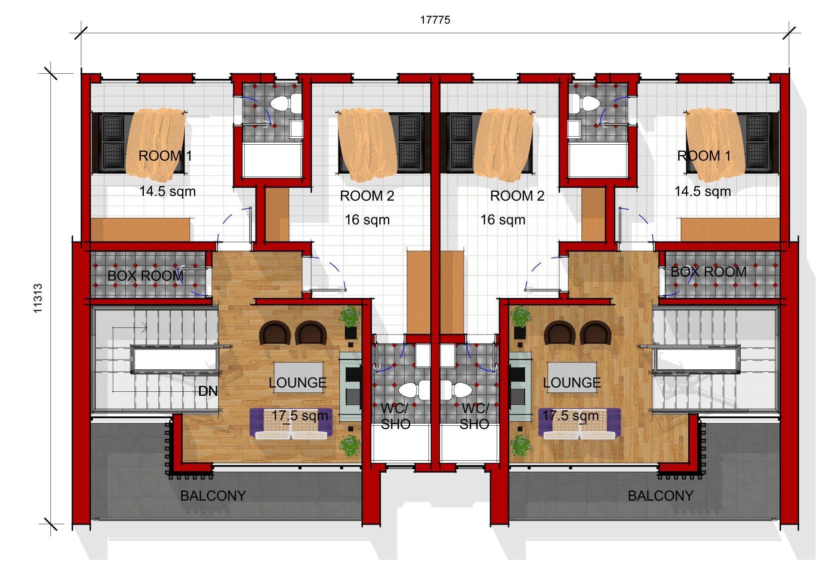 Semi Detached First Floor Plan
